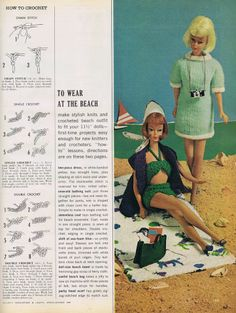 Lovely vintage knitted and crocheted doll clothes from the 60's