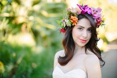 8 Flower Crowns We Love! Photo from Joielala Photography and florals by Isari Flower Studio.