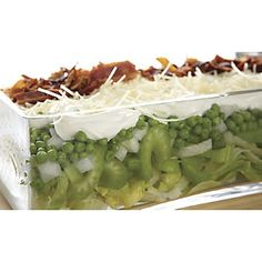 Seven-Layer Salad from Through the Country Door® Great Recipes, Favorite Recipes, Healthy Recipes, Seven Layer Salad, Soup And Salad, Food Preparation, I Love Food, Sauce Recipes, A Table