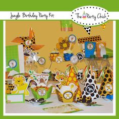 Party Kit Printable Jungle Safari  INSTANT by ThePartyChick, $14.95