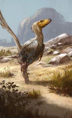 Raptor con plumas.
