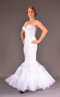 Slender Fit Mermaid Slip 3 Layers Of Crinoline Bridal Wedding Dress Slips