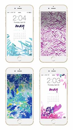 Phone background downloads from May Designs for May!