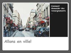 Many pics of typical French buildings common in French I/II vocab. French Buildings, French Classroom, France, Images, Street View, Community, Languages, Transportation, Learning French