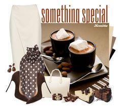 """nr 1604 / Chocolate & Cream"" by kornitka ❤ liked on Polyvore featuring Acne Studios, MARY JANE, Casadei, Jil Sander, David Webb, Ippolita, PolkaDots and chocolate"