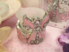 Pink Angel Tea Light Candle Holder Favors