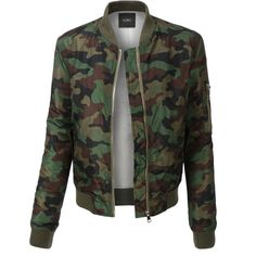 LE3NO PREMIUM Womens Padded Camouflage Flight Bomber Jacket ($44) ❤ liked on Polyvore featuring outerwear, jackets, pocket jacket, camoflauge jacket, bomber jacket, blouson jacket and camoflage jacket