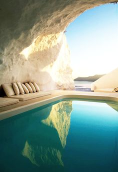 Natural Pool, Santorini, Greece Pamukkale Hot Springs, Turkey Hanging Gardens Ubad, Bali,... Oh yes, eyes closed, POOF!  I'm  here!