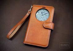 Leather case. leather workroom NUNO.