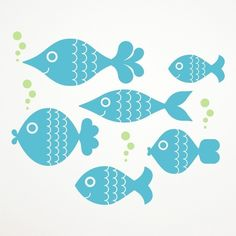 Fish Wall Decal Stickers Ocean Big Fish Baby by graphicspaces, $15.00