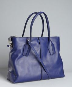 Tod's : electric blue leather 'D-Styling' tote