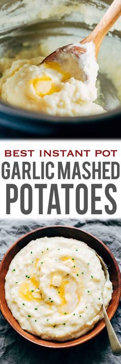 These homemade Instant Pot Garlic Mashed Potatoes are super creamy and take 30 minutes and one electric pressure cooker from start to finish. They should be called melt-in-your-mouth mashed potatoes because they are sooo good! Top them with brown butter, bacon, broccoli, cheddar etc for even fancier options. Perfect side dish for thanksgiving, christmas and the holidays.