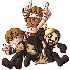 We'll take down The Authority! by Azuroru on DeviantArt. I can't stand Daniel Bryan, but this is a cute drawing.