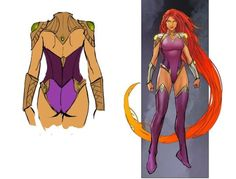 Starfire's design in Justice League Odyssey (art by Stjepan Sejic). Dc Comics, Nightwing And Starfire, Robin Starfire, New Justice League, Superhero Design, Superhero Suits, Batman Vs Superman, Super Hero Costumes, Warrior Princess