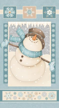 F6792P-11 , I Still Love Snow 2 ply flannel by Shelly Comiskey of Simply Shelly Designs, Henry Glass & Co., Inc.
