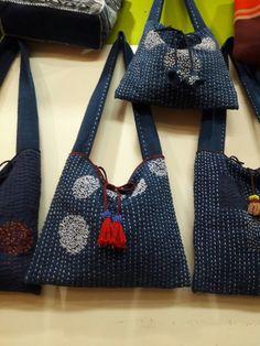 กระเป๋าผ้าด้นมือแบบญี่ปุ่น