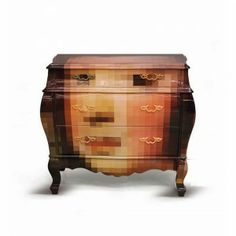 Pixel-art on classic furniture