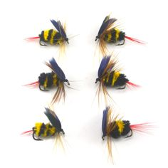 Cheap trout lures and spinners, Buy Quality trout plugs directly from China trout line Suppliers:  Moscas de pesca con mosca    6PCS/Lot Bumblebee Fly Fishing Flies Trout Bass Bumble Bee size 10# Factory Customize Flie