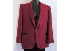 1950s Rockabilly Tux jacket / Narrow lapel / Dark by fifisfinds