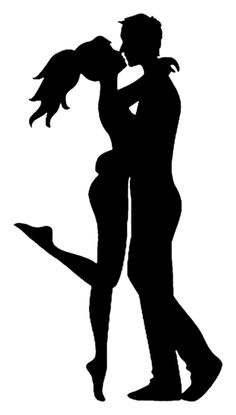 Illustration of Silhouette of couple Woman and man kissing vector art, clipart and stock vectors. Kissing Silhouette, Couple Silhouette, Silhouette Art, Love Images With Name, Love Pictures, Beautiful Pictures, Pop Art, Sunflower Drawing, Galaxy Painting