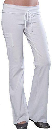 Yoga Clothing For You Ladies White Pants with Pocket  Price : $39.99 http://yogaclothingforyou.hostedbywebstore.com/Yoga-Clothing-For-You-Ladies/dp/B00QQW640Q