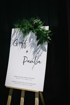 Modern And Stylish Welcome Sign For Wedding // Trinity Buoy Wharf Wedding With Bride In Otaduy And Planning By Liz Linkleter Events Flowers By Grace And Thorn Images From My Beautiful Bride Photography