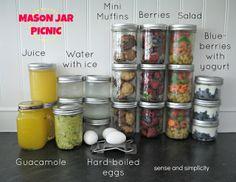 Sense and Simplicity: A Mason Jar Picnic
