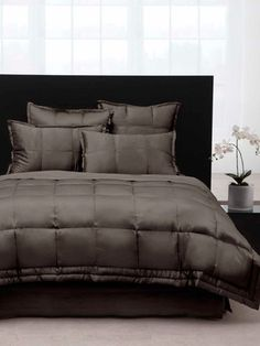 donna karan home reflection gold dust bedding collection donna karan  essentials lustre seam vapour