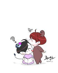 Jikook, J Hope Tumblr, Bts Scenarios, Cute Sketches, Bts Drawings, Bts Chibi, Bts Fans, Min Suga, Namjin