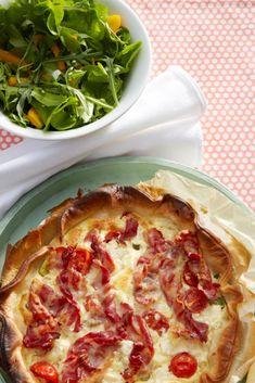Picnics, Ricotta, Vegetable Pizza, Feta, Bacon, September, Vegetables, Inspiration, Spinach