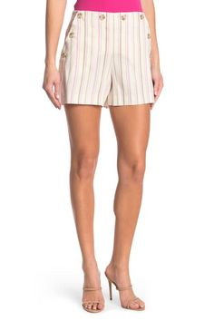 New Arrivals in Women | Nordstrom Rack Cute Shorts, Casual Shorts, Trina Turk, Brand It, Nordstrom Rack, Warm Weather, Gym Shorts Womens, Stripes, Model