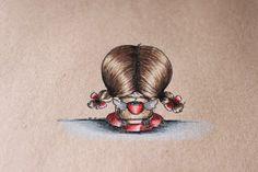 Quixotic Inspirations: Tutorial - Colouring on Kraft paper with Prismacolor pencils