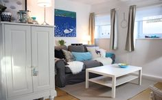 A seaside-themed living room | Tanja's home, Germany