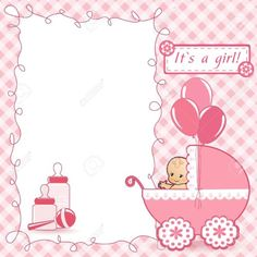 Illustration of Baby Shower card vector art, clipart and stock vectors. Tarjetas Baby Shower Niña, Imprimibles Baby Shower, Baby Shower Invitaciones, Baby Shower Cards, Invitacion Baby Shower Originales, Christening Invitations Girl, Theme Mickey, Happy Birthday Art, Baby Shower Souvenirs