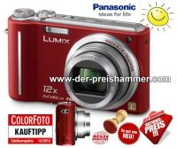 Jetzt im der-preishammer.com Shop:  Panasonic DMC-TZ7EG-K Digitalkamera /rot zum Hammerpreis von 99,00 EUR