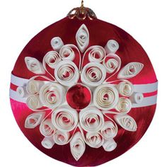 Quilling Snowflakes and Christmas Trees Board: Quilling ornament