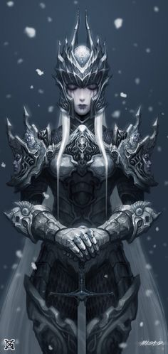 Drow knight. Snow knight