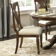Liberty Furniture Industries Rustic Traditions Splat Back Dining Side Chair, Red Rustic Dining Room Sets, Luxury Dining Room, Beautiful Dining Rooms, Solid Wood Dining Chairs, Upholstered Dining Chairs, Dining Chair Set, Dining Room Design, Dining Room Chairs, Dining Room Furniture