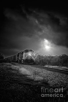 Night Train Photograph by Robert Frederick - Night Train Fine Art Prints and Posters for Sale
