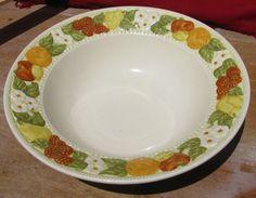 Metlox Poppytrail DELLA ROBBIA Round Vegetable Bowl Vernon Ware 9.5 inch #MetloxPoppytrailVernonware