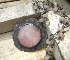 Hey, I found this really awesome Etsy listing at https://www.etsy.com/listing/202522132/rose-quartz-flower-pendant-necklace-in