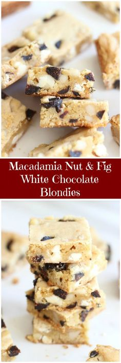 Ultra-chewy and rich white chocolate blondies are chock-full of sweet figs and buttery macadamia nuts for an understated, but amazingly rich and delightful cookie!