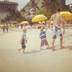 Waikiki Beach can get crowded but is always fun people watching