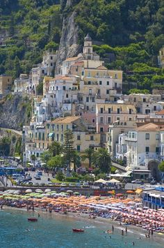 The town of Amalfi, Italy - awesome photo!! god i love this!! now we know why cultural icon Jackie Kennedy Onassis loved to vacation here. all camelot, all the time!!! :)