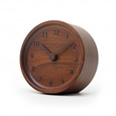 Furnishings and Decor: Muku Wooden Desk Clock