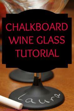 Turn Wine Glasses into a Chalkboard!
