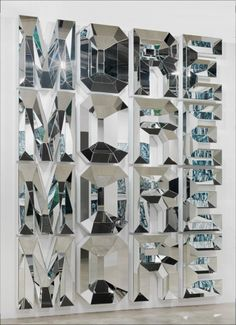 Doug AitkenMORE (X4), 2012Mirrored glass and white glass, 128 x 96 x 6 inches