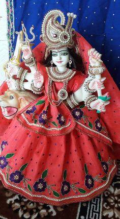 Indian Goddess, Kali Goddess, Durga Maa, Shiva Shakti, Navratri Devi Images, Jai Mata Ki, Kali Mata, Mata Rani, Radha Krishna Pictures