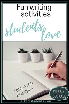 Keep your students engaged with these fun writing activities.  Quick and easy to use.  Perfect for 5th, 6th, 7th, 8th grade.  Ideal for creative writing, fast finishers, and writing workshop.  Keep your students' writing skills sharp.  Be sure to download the free 22 story starters!  #lessonplans #writingworkshop #writingprompts