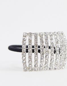 9.- ASOS DESIGN | ASOS DESIGN – Haarclip mit Kristalldesign Asos, Diamond, Grey, Bracelets, Design, Jewelry, Fashion, Crystals, Gray